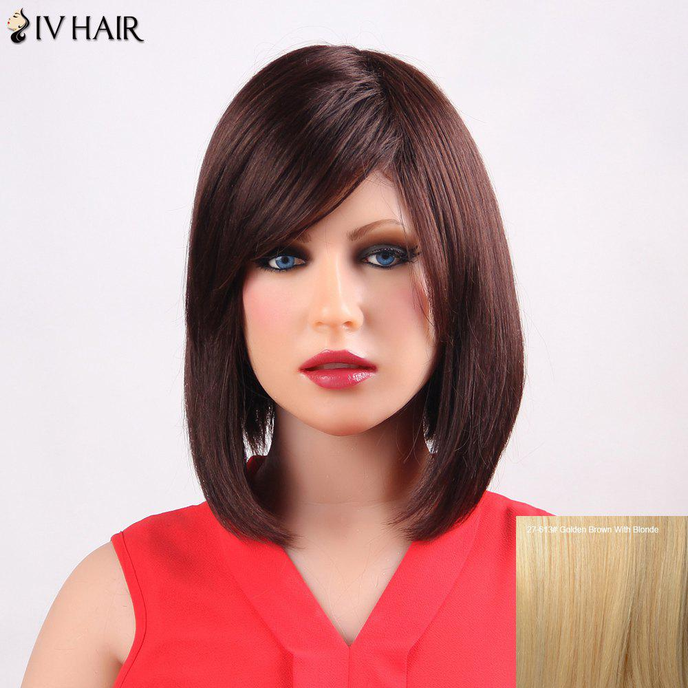 Bob Style Siv Hair Straight Fashion Medium Side Bang Capless Human Hair Wig For Women a type hdmi 1 4 male to mini hdmi 1 4 female c type extension cable adapter 10cm for laptop pc hdtv