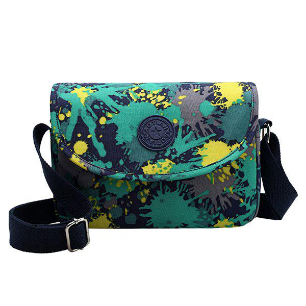 Casual Multicolor and Nylon Design Women's Crossbody Bag - GREEN