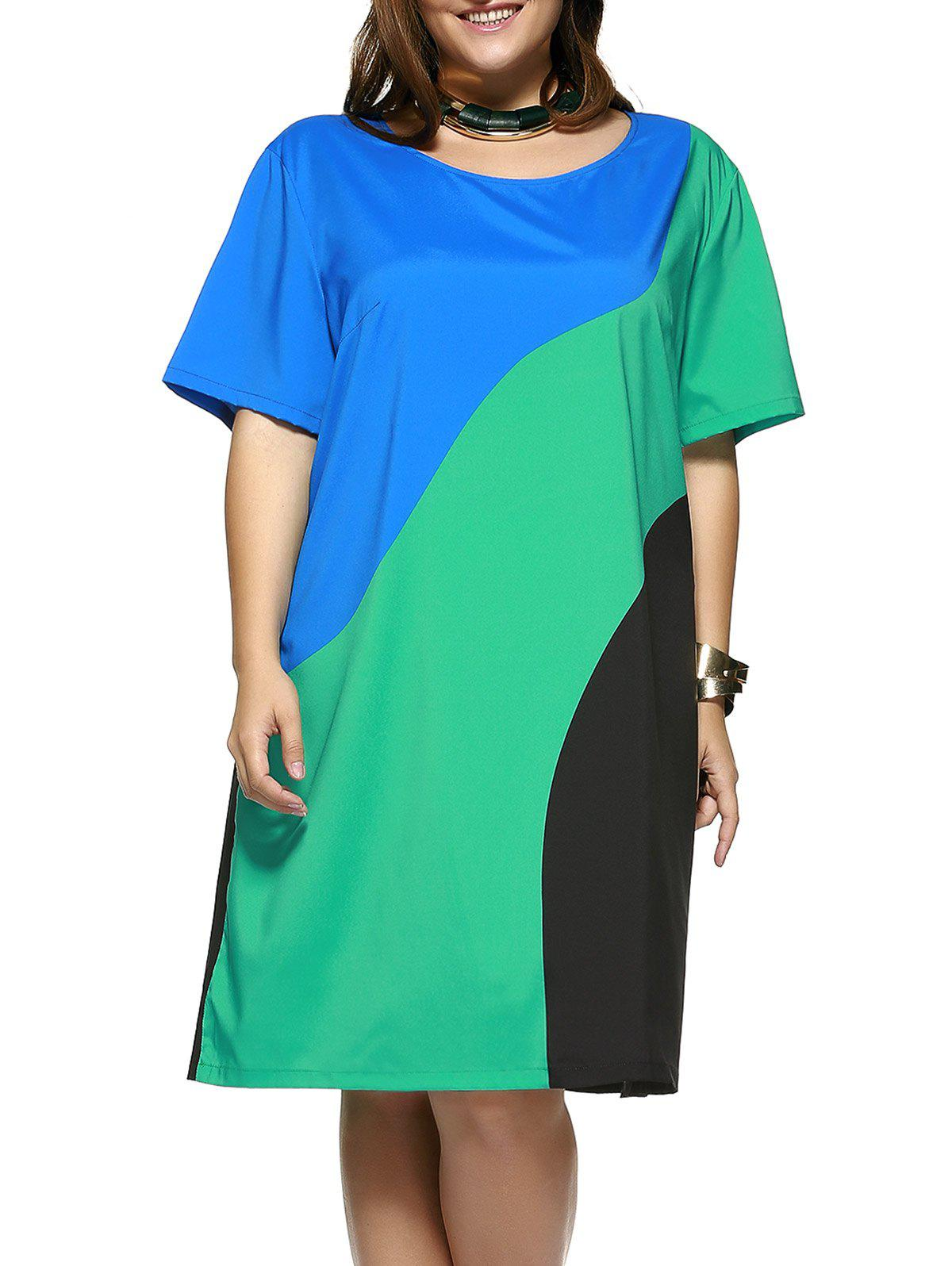 Robe décontractée taille grand taille - multicolorcolore 2XL