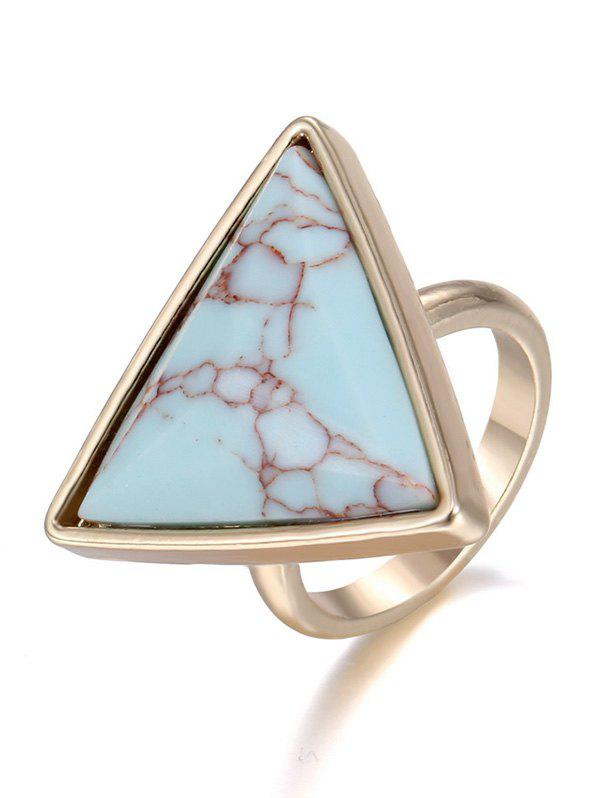 Chic Faux Rammel Triangle Ring - ONE-SIZE GREEN