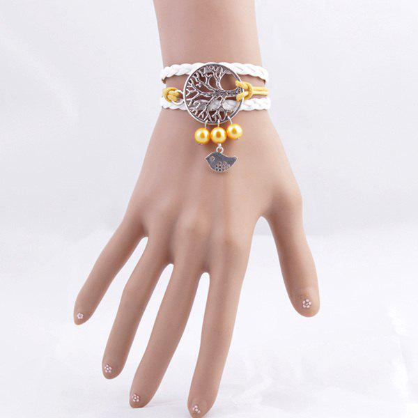 Trendy Tree of Life Birdie Strand Bracelet For Women