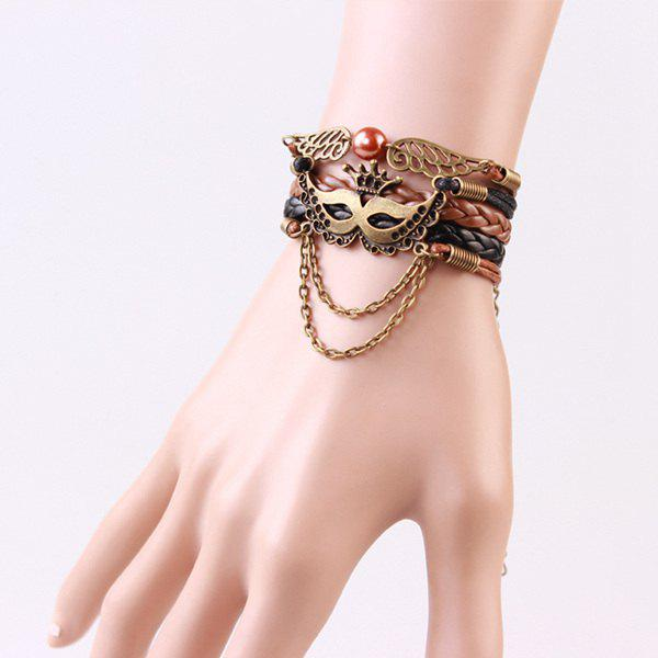 Trendy Mask Wings Strand Bracelet For Women - COLORMIX
