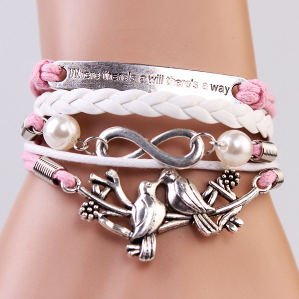 Trendy Romantic Birds Strand Bracelet For Women