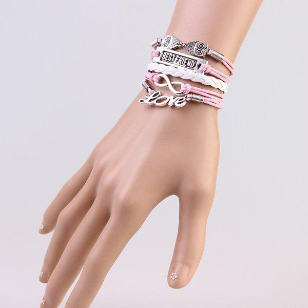Trendy Infinite Owl Strand Bracelet For Women