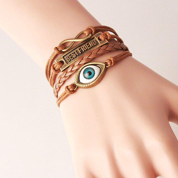 Punk Eye Infinite Strand Bracelet - LIGHT BROWN
