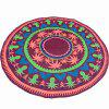 Panama Style Bikini Boho Swimwear Palm Pattern Chiffon Round Beach Throw Scarf - WINE RED