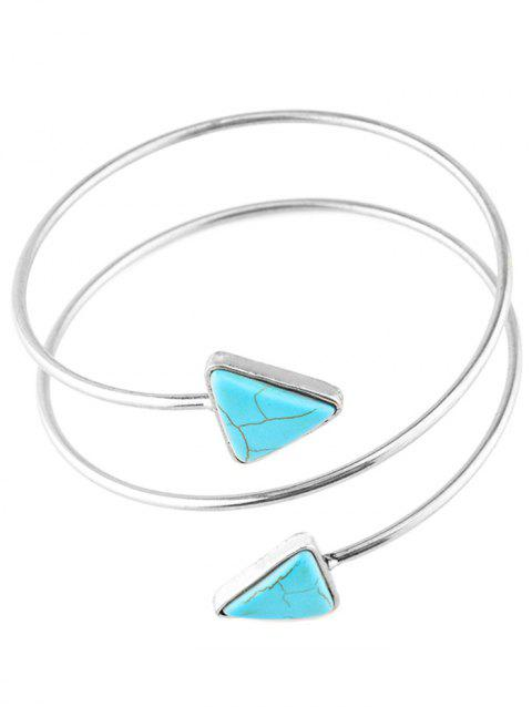 Graceful Artificial Turquoise Body Chain - SILVER