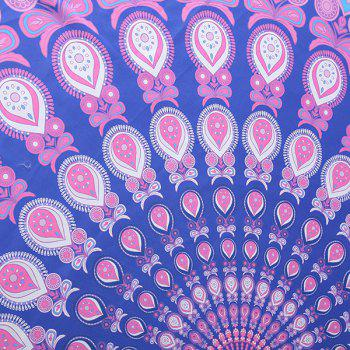 Tropical Style Bikini Boho Swimwear Arab Print Comfortable Round Beach Throw Scarf -  LIGHT PURPLE