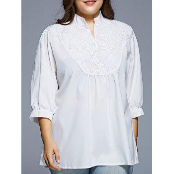 Women's Grace Lace Splicing  1/2 Sleeve Plus Size Blouse