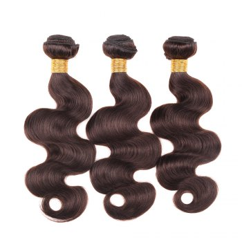 1 Pcs Boutique Darkest Brown Women's 6A Virgin Body Wave Brazilian Hair Weave - 20INCH 20INCH