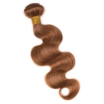 1 Pcs Fashion Honey Blonde Women's 6A Virgin Body Wave Brazilian Hair Weave - ROSE GOLD 22INCH