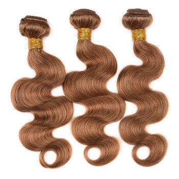 1 Pcs Fashion Honey Blonde Women's 6A Virgin Body Wave Brazilian Hair Weave - ROSE GOLD 20INCH