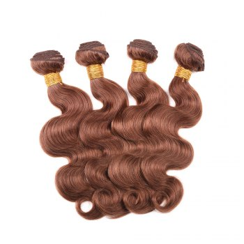 1 Pcs Fashion Auburn Brown femmes s '6A Virgin Body Wave brésilienne Hair Weave - Puce 14INCH