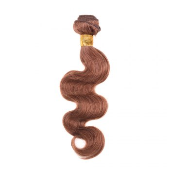 1 Pcs Fashion Auburn Brown Women's 6A Virgin Body Wave Brazilian Hair Weave - AUBURN BROWN 14INCH