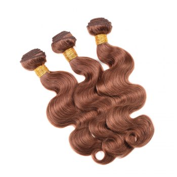 1 Pcs Fashion Auburn Brown Women's 6A Virgin Body Wave Brazilian Hair Weave - 14INCH 14INCH