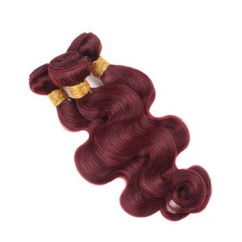 1 Pcs Fashion Claret Women's 6A Virgin Body Wave Brazilian Hair Weave - CLARET 10INCH