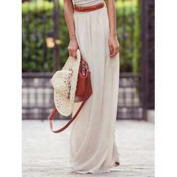 Flowy Maxi Skirt - OFF-WHITE OFF WHITE