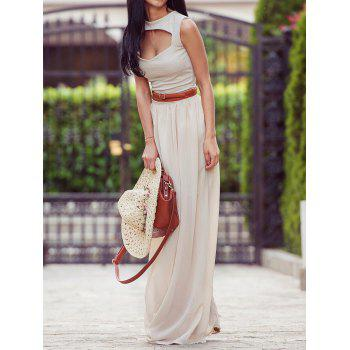 Flowy Maxi Skirt - OFF WHITE OFF WHITE