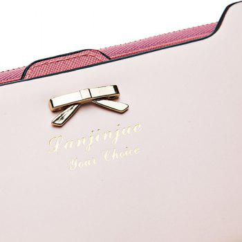 Sweet Bowknot and Solid Color Design Clutch Wallet For Women - PINK