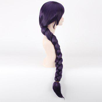 Vogue Purple Long With Braided Ponytail Love Live Tojo Nozomi Fairytale Style Cosplay Wig - PURPLE