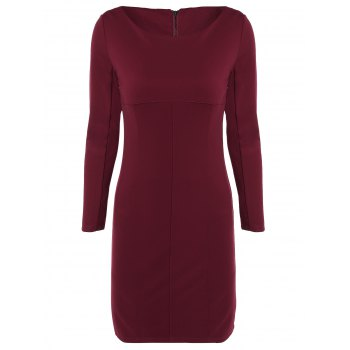 Elegant Long Sleeve Sheath Dress