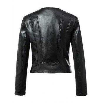 Cool Zipper Design All Black Jacket - S S