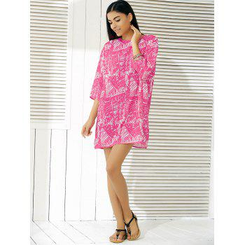 Fashionable Abstract Pattern Dress For Women - ROSE XL