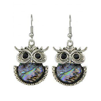 Alloy Night Owl Drop Earrings