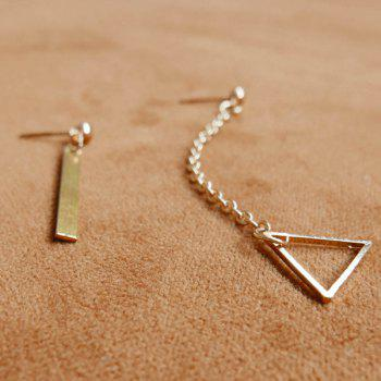 Pair of Triangle Bar Earrings - GOLDEN