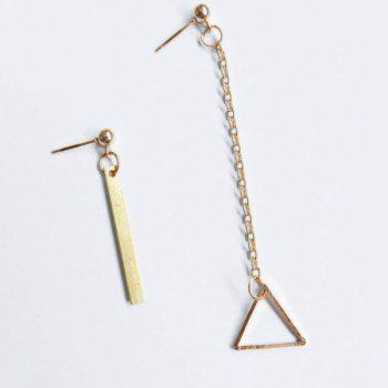 Pair of Triangle Bar Earrings