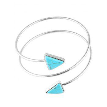 Graceful Artificial Turquoise Body Chain - SILVER SILVER