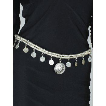 Vintage Coins Tassel Belly Chain