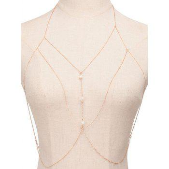 Faux Pearl Sandbeach Body Chain