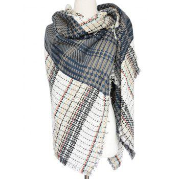 Stylish Houndstooth Tassel Large Woven Shawl Wrap Scarf