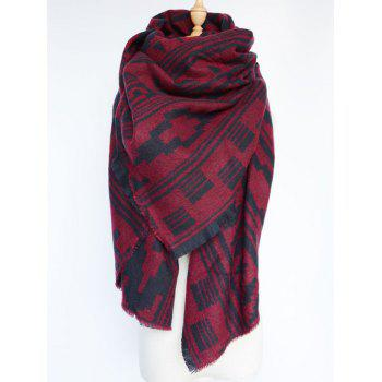 Stylish Geometric Tassel Large Shawl Wrap Scarf