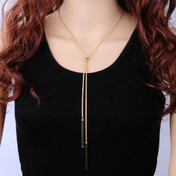 Bar Tassel Knot Necklace