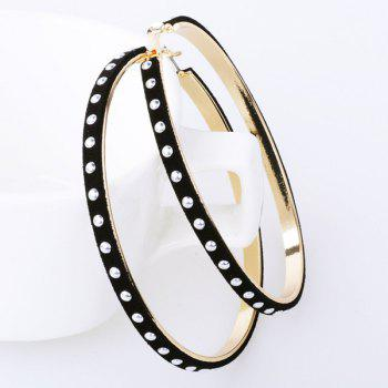 Pair of Studded Rivet Hoop Earrings