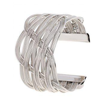 Gold Plated Chain Cuff Bracelet
