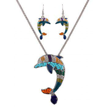 Dolphin Resin Beads Necklace Set