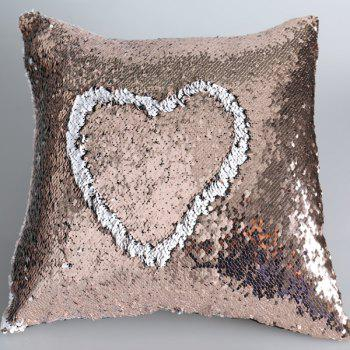 DIY Shiny Sequins Two Color Cushion Cover Pillow Case