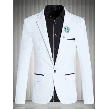 Brief Lapel Collar Long Sleeve Slim-Fit Blazer For Men