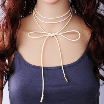 Layered Bowknot Wrap Choker Necklace