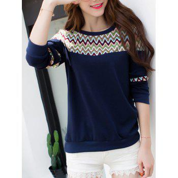 Wave Striped Crew Neck T-Shirt