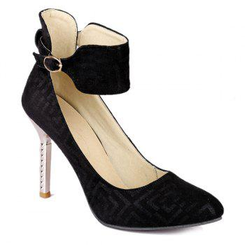 Chic Suede and Ankle Strap Design  Women's Pumps - 38 38