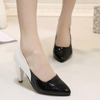 Leisure Pointed Toe and Colour Splicing Design Women's Pumps