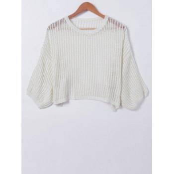 Casual Pure Color Hollow Out Women's Knitwear