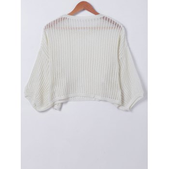 s 'Tricots Casual pur creux Couleur Out Femmes - Blanc ONE SIZE(FIT SIZE XS TO M)