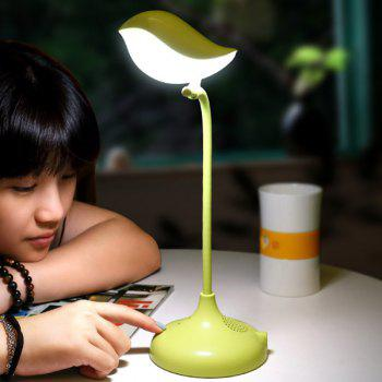 Stylish LED Eye Protection USB Charging Bird Shap Desk Lamp -  GREEN