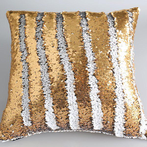Reversible Mermaid Sequins DIY Throw Pillow Case -  WHITE/GOLDEN