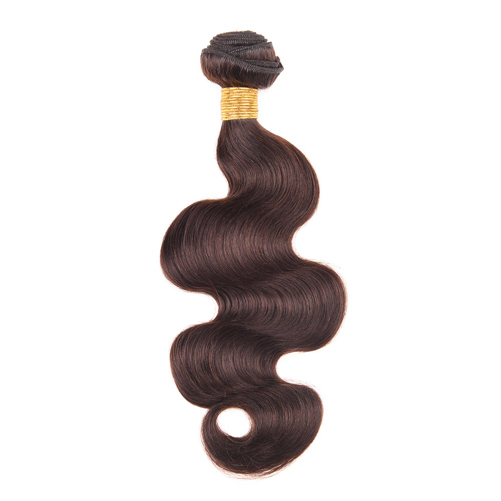 1 Pcs Boutique Darkest Brown femmes s '6A Virgin Body Wave brésilienne Hair Weave - Brun Foncé 20INCH